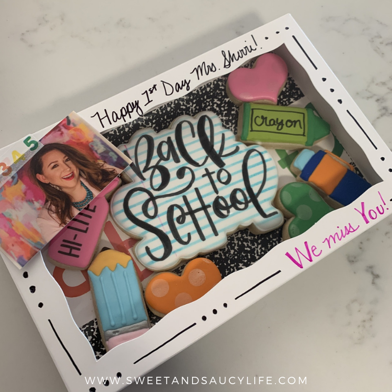 Back To School Decorated Sugar Cookie Packaging