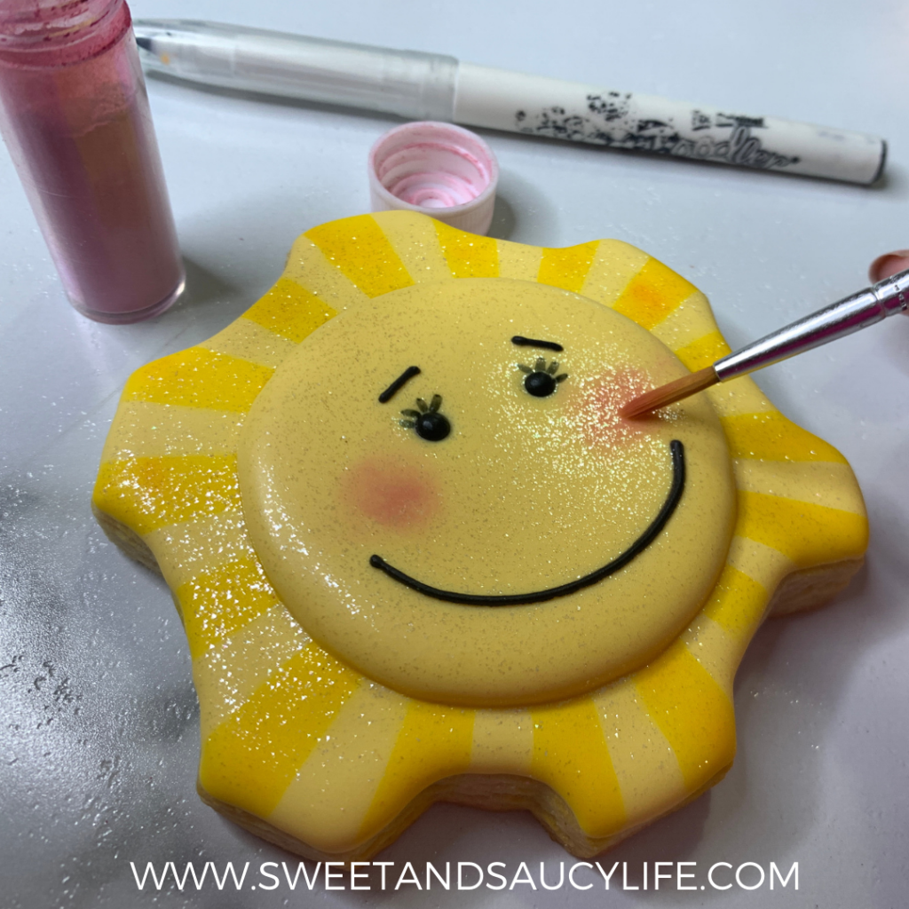 Hello Sunshine Cookie Design by Sweet & Saucy Life