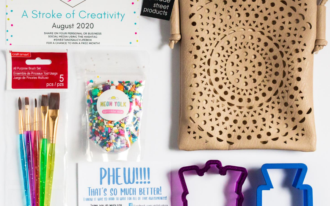 "Sweet & Saucy Life Subscription Box Reveal – ""Stroke of Creativity"" Box"