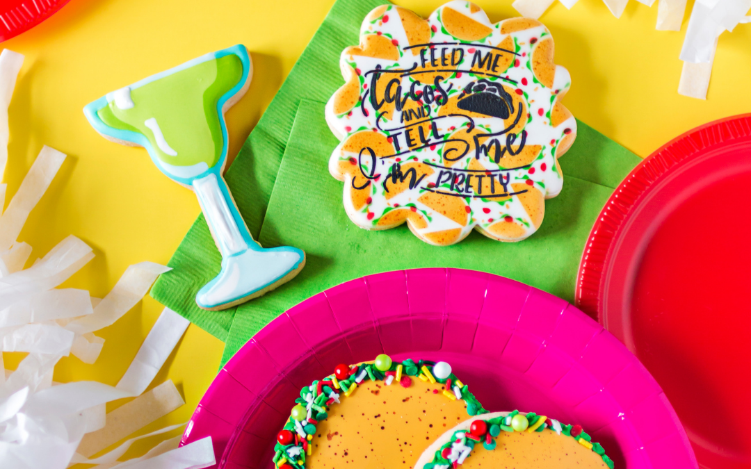 Learn how to decorate a simple Taco Cookie!