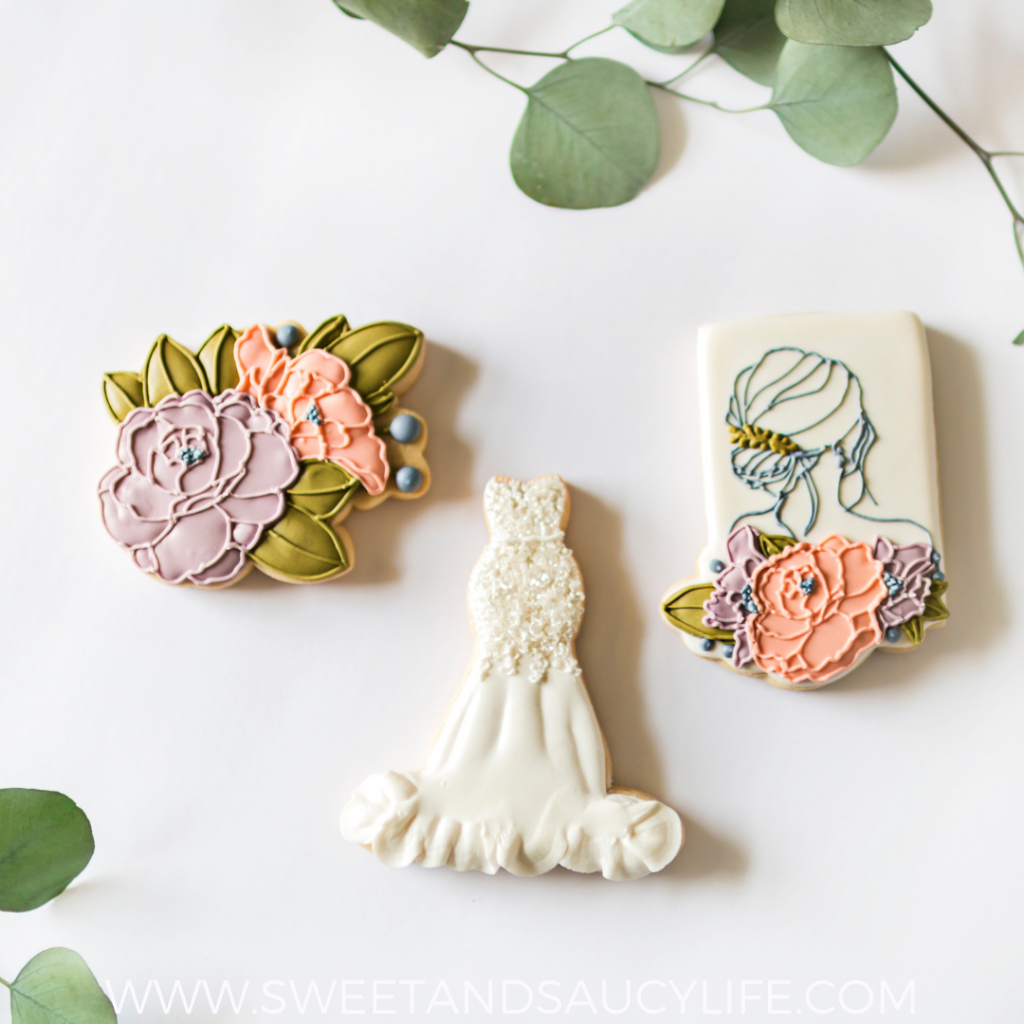 """""""Here Comes the Bride"""" Decorated Sugar Cookies"""