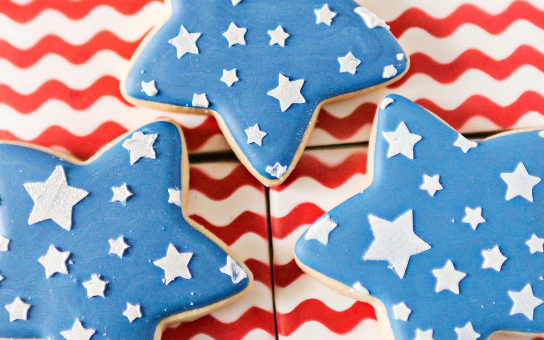 Stars and Stripes Cookie Platter