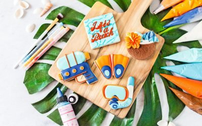 """""""Life's a Beach"""" Cookie Decorating Tutorial"""