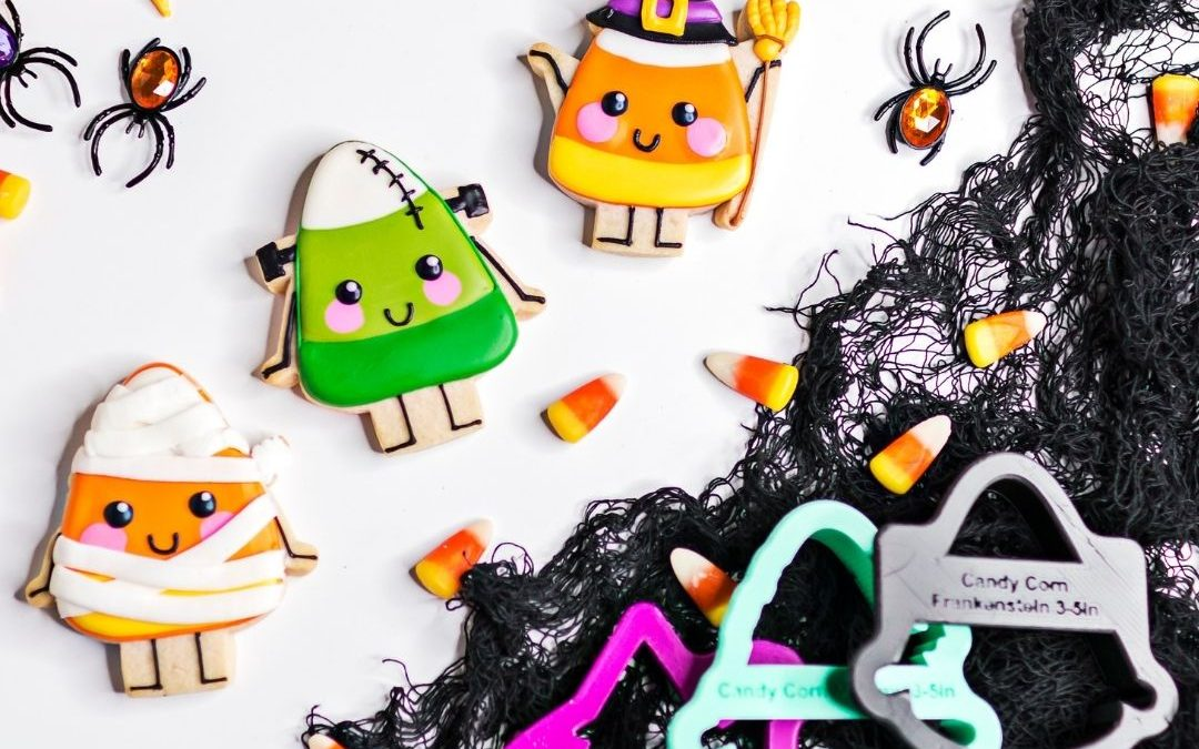 """A Corny Halloween"" Cookie Decorating Tutorial"